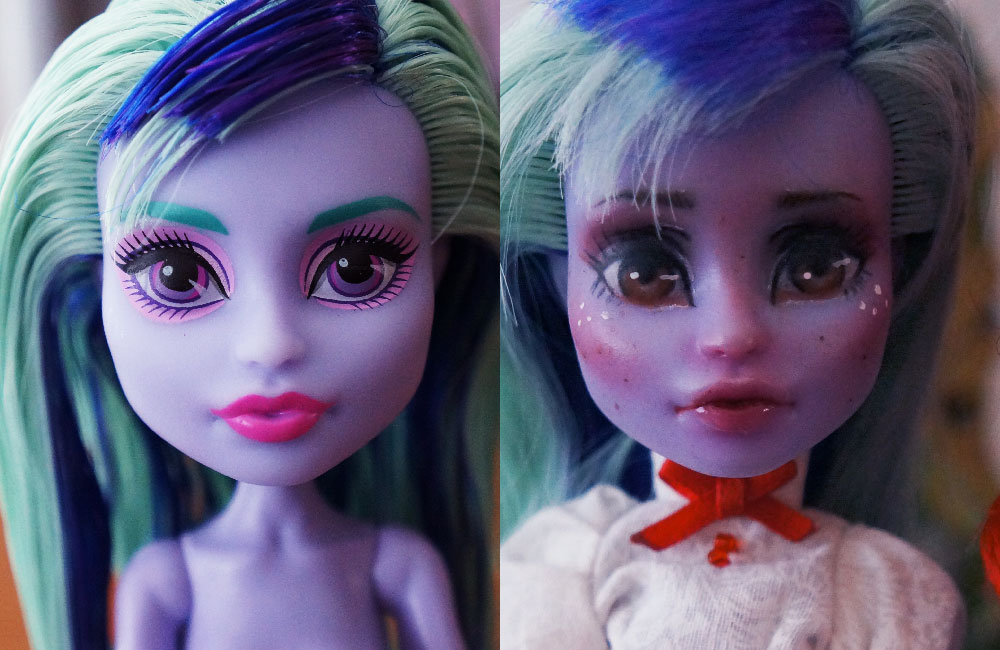 Monster High Doll Repaint – Madeline (Twyla)